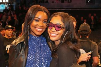 "Gabrielle Union & Her Cousin Saweetie Sport Matching ""Bring It On"" Costumes"
