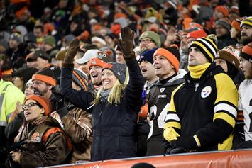 Browns Fans Smash Mason Rudolph Piñata With Steelers Helmet