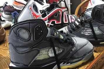 Off-White x Air Jordan 5 Collab Revealed In Greater Detail: Photos