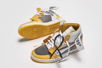 """Off-White x Air Jordan 1 Revealed In Custom """"Canary Yellow Lux"""" Colorway"""
