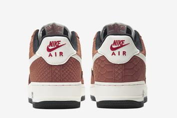 "Nike Air Force 1 Low Snakeskin In ""Red Bark"" Coming Soon: Photos"