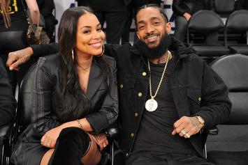 Lauren London Gifted With One Of A Kind Print Of Nipsey Hussle