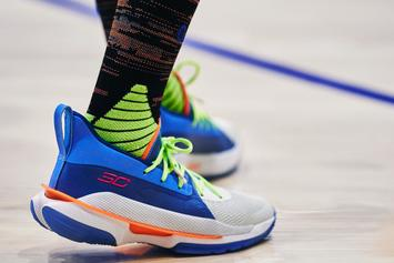 "Steph Curry's Under Armour Curry 7 Unveiled In ""Super Soaker"" Colorway"