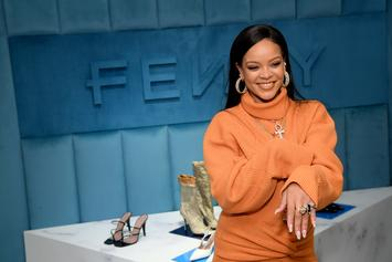 Rihanna Side-Eyes Friend Who Jokingly Says She's Having His Baby