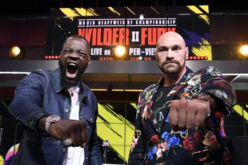 Deontay Wilder & Tyson Fury Get Heated Ahead Of Rematch: Watch