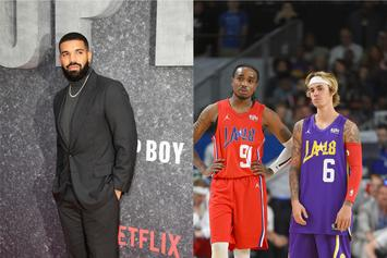 Drake Playfully Disses Quavo & Justin Bieber During Raptors Game