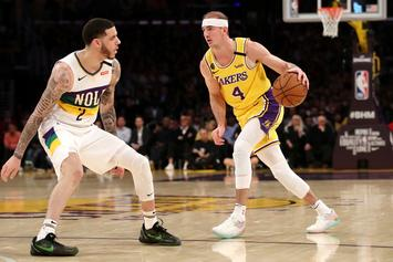Alex Caruso Gives Lonzo Ball The Business With Monstrous Block