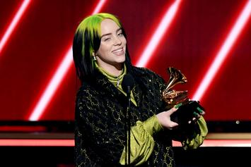 Billie Eilish Cops Black Diamond Pendant In Honor Of Grammy Wins