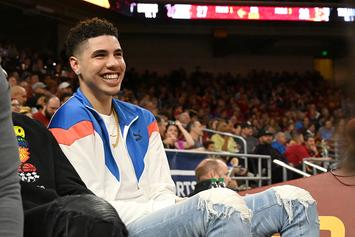 "LaMelo Ball Shows Off New ""Sky's The Limit"" Tattoo: Video"
