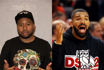 Akademiks Breaks His Chair In Excitement After Receiving Drake Shoutout