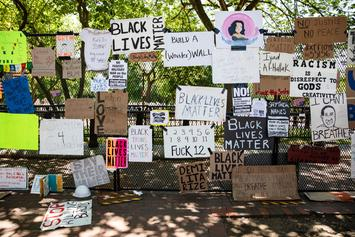 White House Fence Becomes Memorial For Black Police Brutality Victims