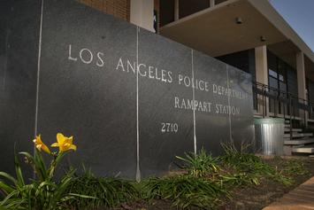LAPD Alarmed By Bloody Pig Head Left Outside Rampart Station