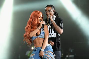 Saweetie Hitches A Ride On Quavo's Motorcycle In Skintight Denim Shorts
