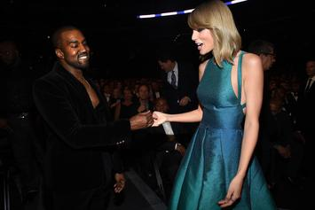 Kanye West Alludes To Taylor Swift Beef With Photo Of Snake