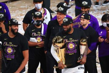 LeBron James Scolds Larry O'Brien Trophy For Cheating On Him