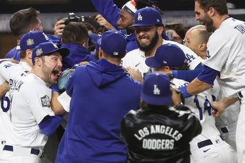 Dodgers Win 2020 World Series & Los Angeles Lights Up With Fireworks