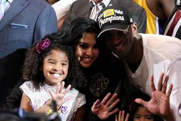 """Kobe & Vanessa Bryant's Daughter Learns To Ride Bike With """"Auntie"""" Ciara"""