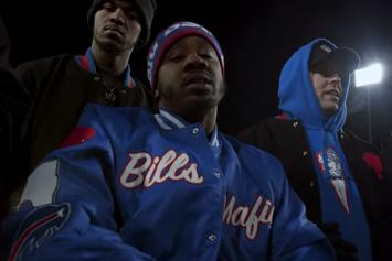 """Benny The Butcher Reps The Buffalo Bills In """"Trade It All"""" Visual"""