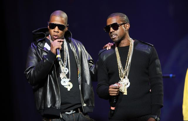 Kanye West and Jay Z at Madison Square Garden 2007