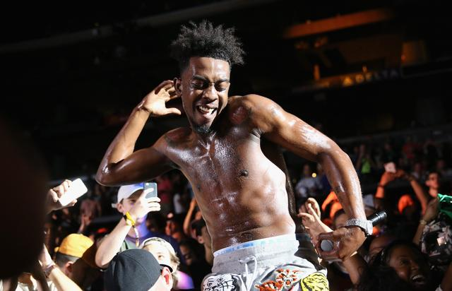 Desiigner performing at the Staples Center