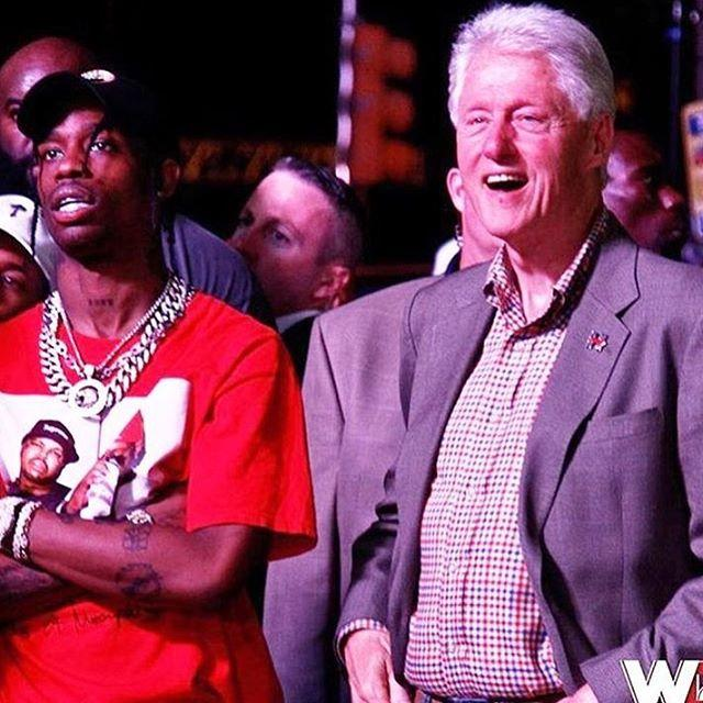 travis scott and bill clinton
