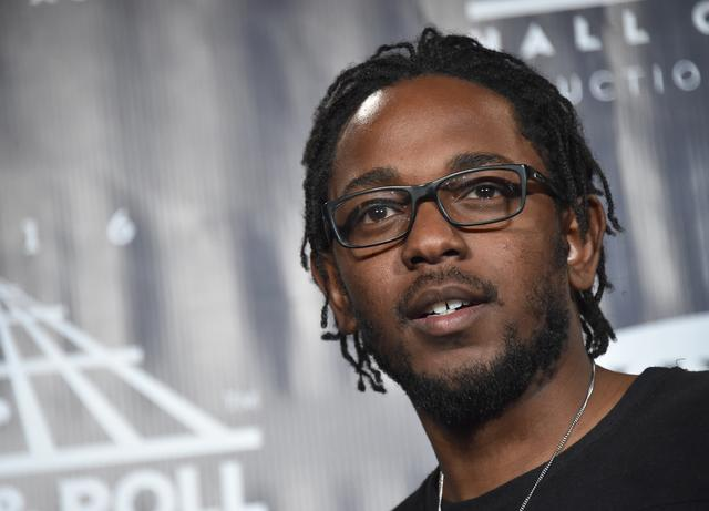 Kendrick Lamar at the Rock n Roll Hall of Fame induction ceremony