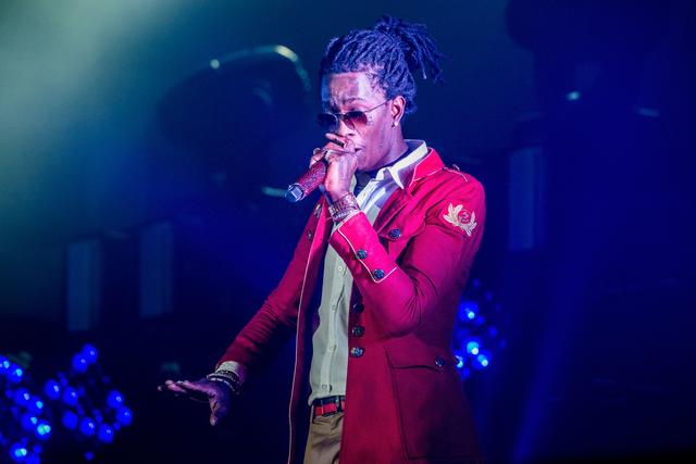 Young Thug performing in LA 2016
