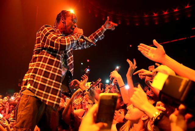 Travis Scott performing at Kailand's Swaggy 16th Birthday Party