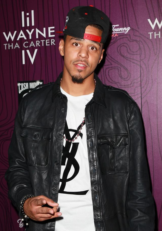 J. Cole at Lil Wayne album release party for Tha Carter IV