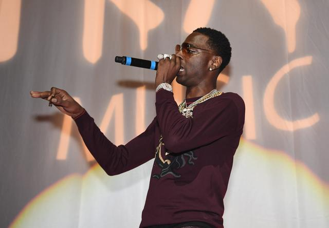 Young Dolph at Pretty Girls Like Trap Music show