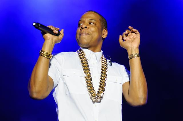 Jay Z with his massive cuban link chain