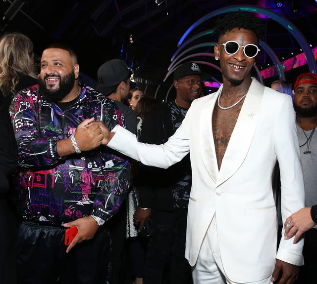 DJ Khaled and 21 Savage give each other props