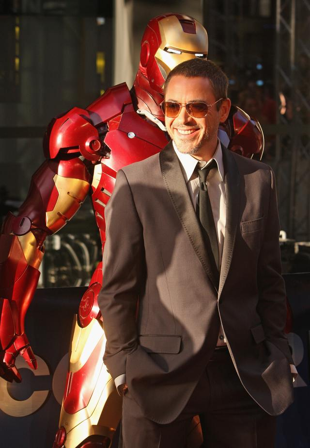 Robert Downey Jr at Iron Man movie premiere 2008
