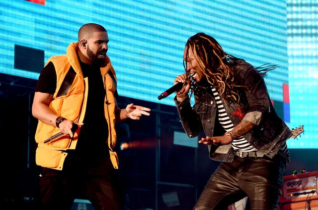 Drake and Future on stage together