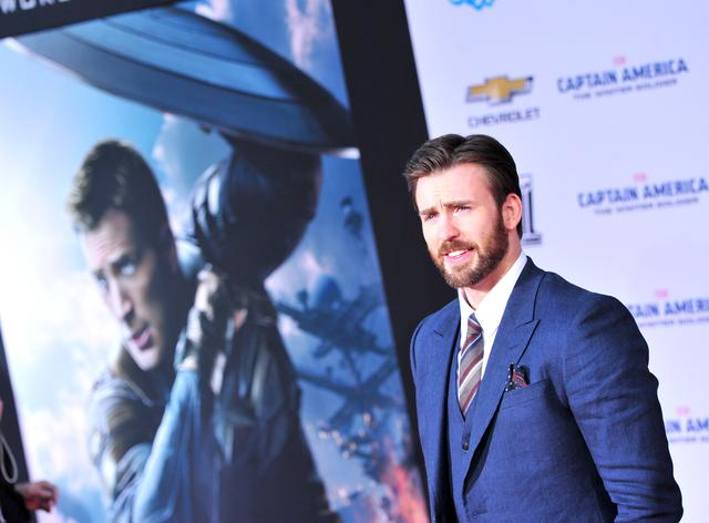 Chris Evans at Captain America: The Winter Soldier premiere