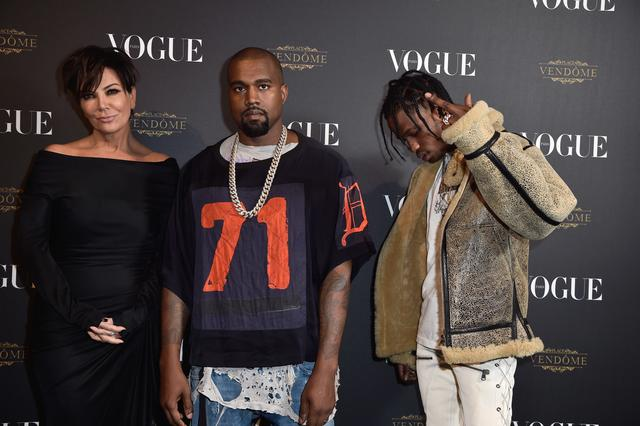 a58ba407f19c Travis Scott, Kanye West & Kris Jenner altogether