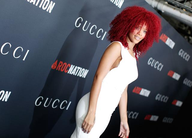 Rihanna at Grammys brunch 2011