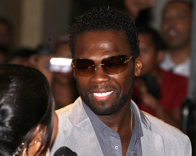 50 Cent at All Things Fall Apart premiere