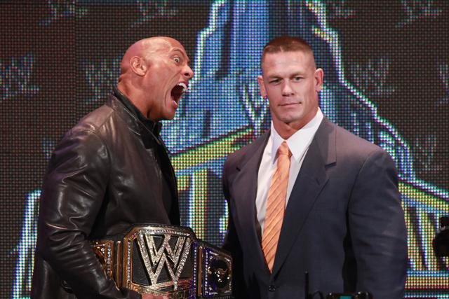 The Rock vs Cena