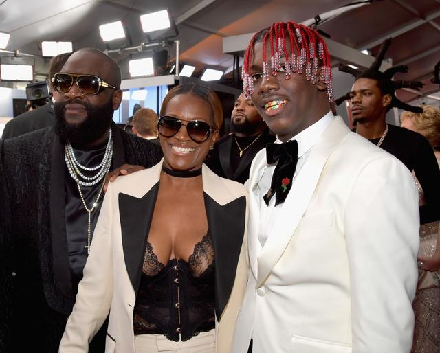 Lil Yachty with his mom on the red carpet, and Rick Ross