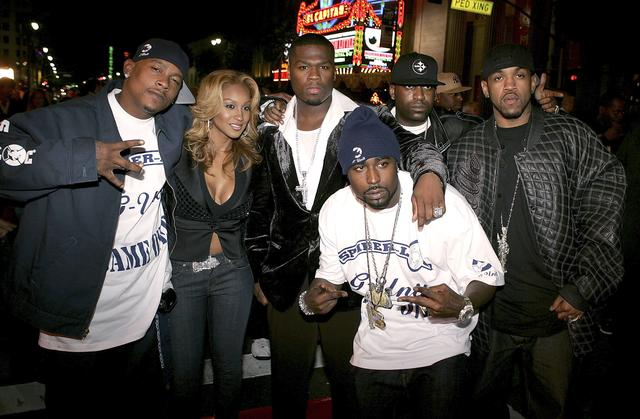 "G-Unit at ""Get Rich or Die Tryin"" movie premiere"