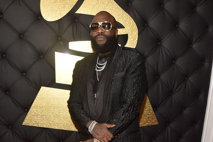 Rapper Rick Ross attends The 59th GRAMMY Awards at STAPLES Center on February 12, 2017 in Los Angeles, California.