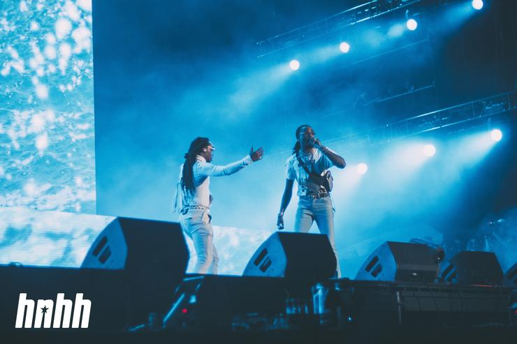 Migos members Takeoff and Quavo at Rolling Loud 2018